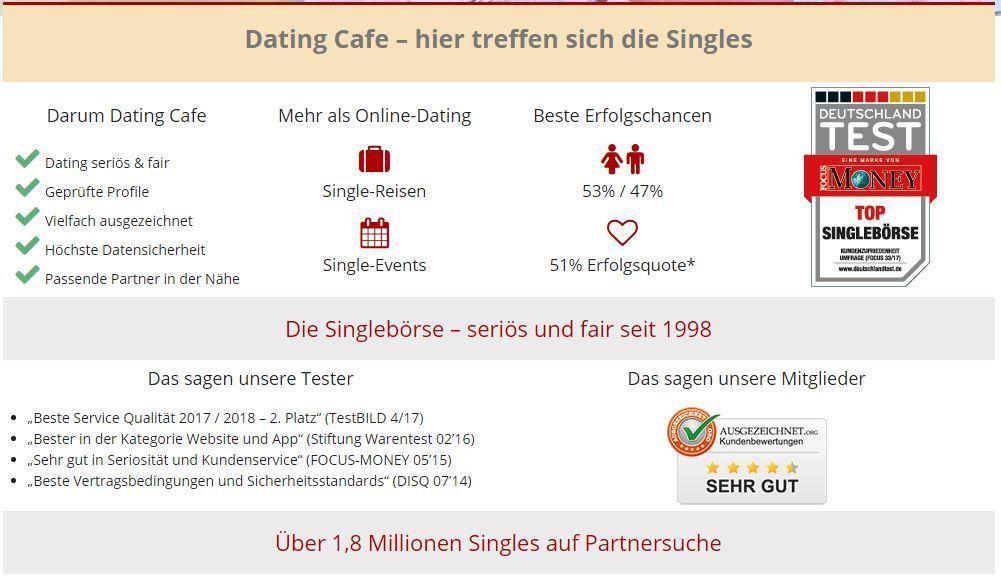 Partnervermittlung dating cafe